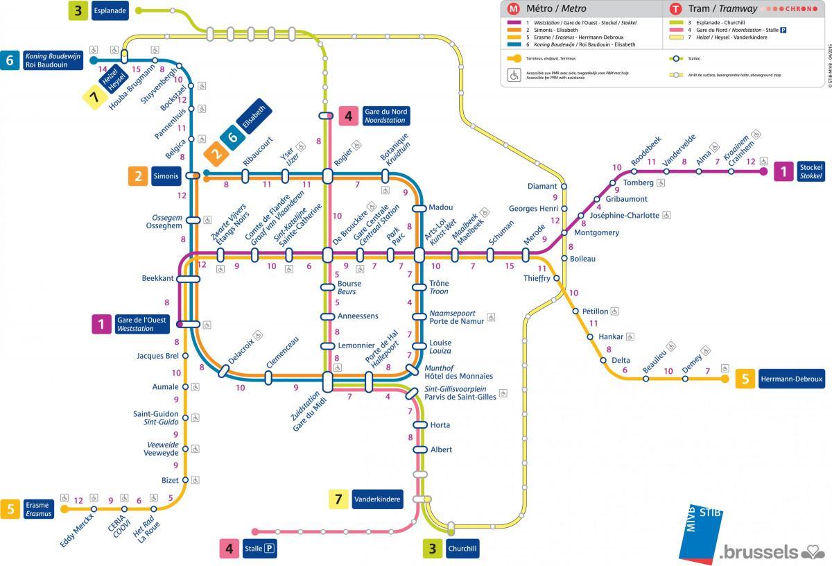kart over brussel Brussel t banestasjon kart   Kart over Brussel t banestasjon (Belgia) kart over brussel